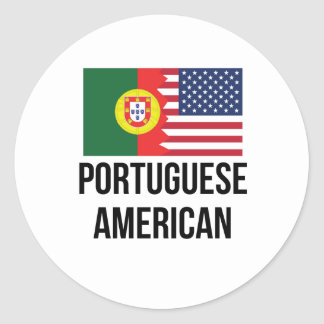 Portuguese American Flag Classic Round Sticker