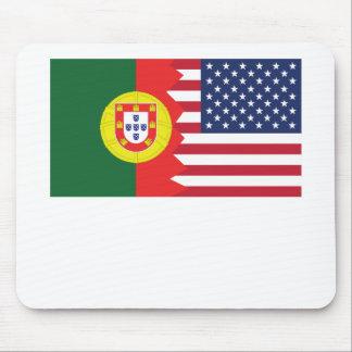 Portuguese American Flag Mouse Pad