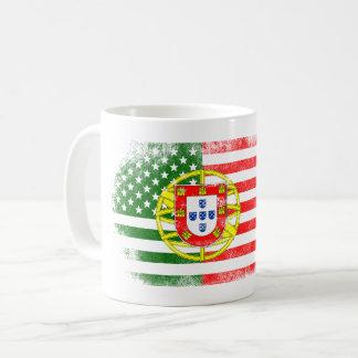 Portuguese American Flag   Portugal and USA Design Coffee Mug
