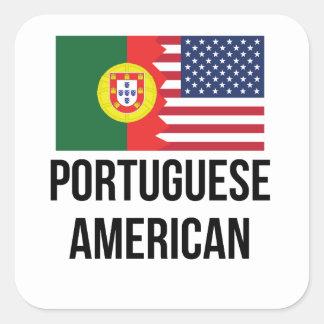 Portuguese American Flag Square Sticker