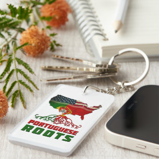 Portuguese American Roots Keychain