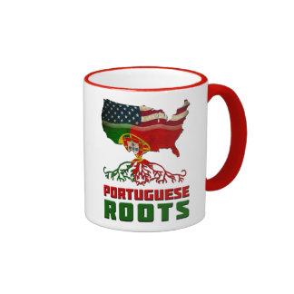 Portuguese American Roots Ringer Mug