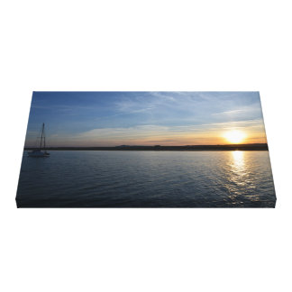 Portuguese Anchorage At Sunset Canvas Print