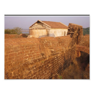 Portuguese architecture in india photo print
