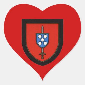 Portuguese Army Commandos Heart Sticker