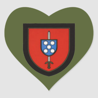 Portuguese Army Commandos Heart Sticker