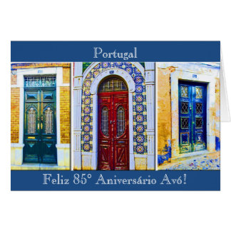 Portuguese: Avó grandma's 85th birthday Card