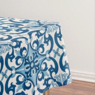 Portuguese Azulejo Fleur De Lis Tablecloth
