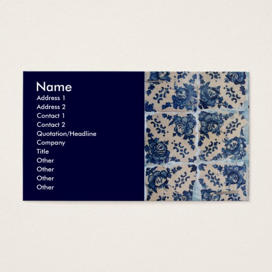 Portuguese Azulejo tiles Business Card