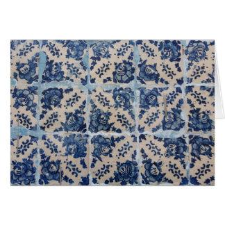 Portuguese Azulejo tiles Card