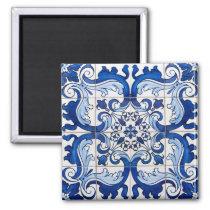 Portuguese Azulejo Tiles Pattern Magnet