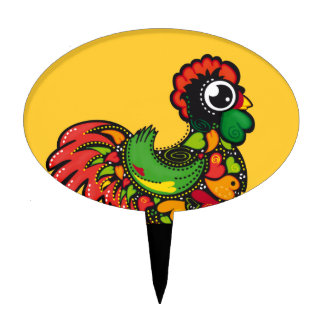 Portuguese Barcelos Rooster Cake Topper