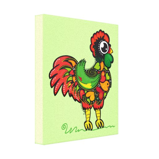 Portuguese Barcelos Rooster Canvas Print