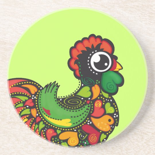 Portuguese Barcelos Rooster coaster