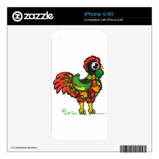 Portuguese Barcelos Rooster iPhone 4 Decals