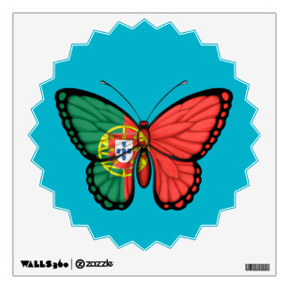 Portuguese Butterfly Flag Wall Sticker