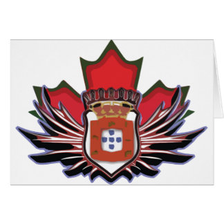 Portuguese canadian color greeting card