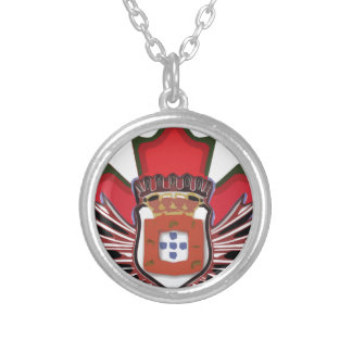 Portuguese canadian color silver plated necklace