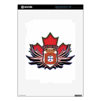 Portuguese canadian color decal for iPad 2