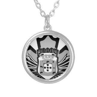 Portuguese canadian round pendant necklace