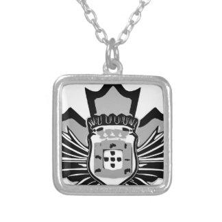 Portuguese canadian square pendant necklace