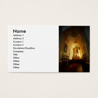 Portuguese catholic church business card