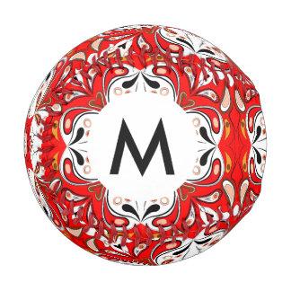Portuguese Ceramic Tile Pattern Baseball