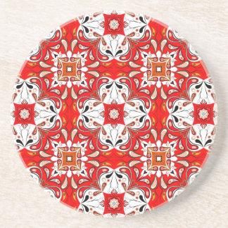 Portuguese Ceramic Tile Pattern Drink Coasters