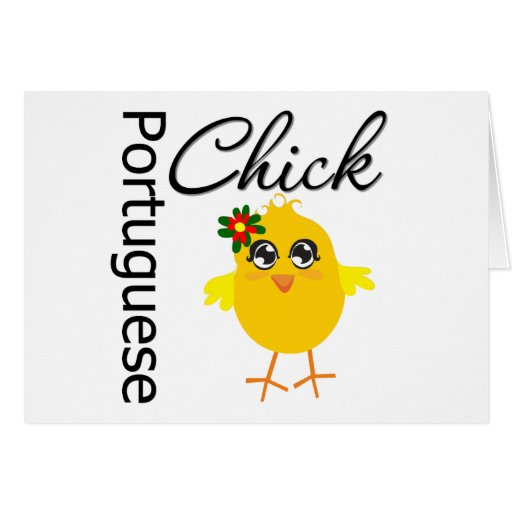 Portuguese Chick Greeting Card