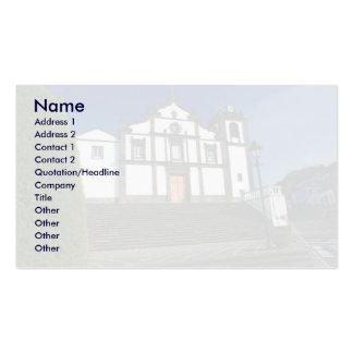 Portuguese church Double-Sided standard business cards (Pack of 100)