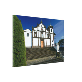 Portuguese church stretched canvas print