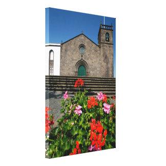 Portuguese church canvas print
