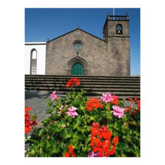"Portuguese church 8.5"" x 11"" flyer"