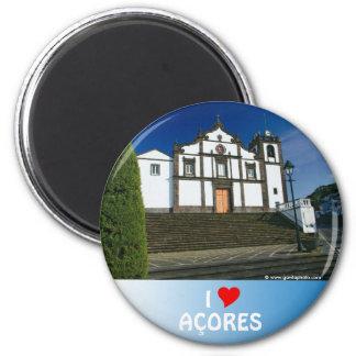 Portuguese church 2 inch round magnet