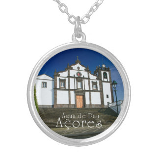 Portuguese church round pendant necklace