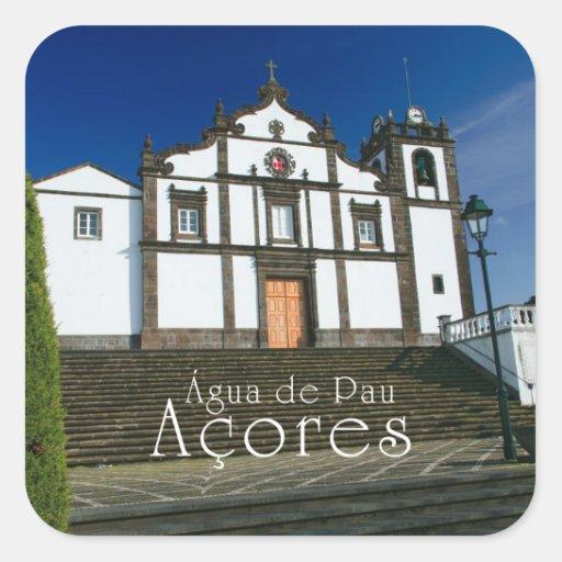 Portuguese church sticker