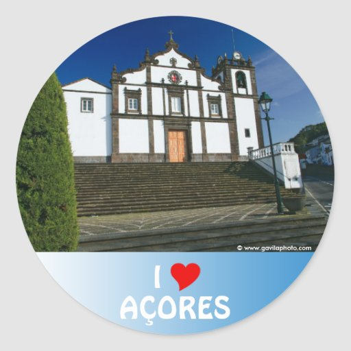 Portuguese church round sticker