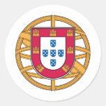 Portuguese Coat of Arms Classic Round Sticker