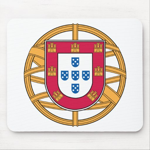 Portuguese Coat of Arms Mouse Pad