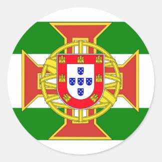 Portuguese Colony Governor General, Myanmar Classic Round Sticker