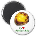 Portuguese custard tart refrigerator magnets