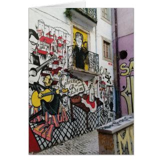 Portuguese: Dia do Pai Lisboa Alfama/ Father's day Card
