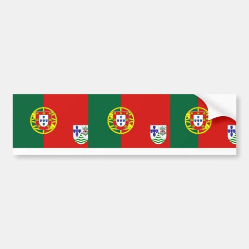Portuguese East Africa (Proposal), Portugal flag Car Bumper Sticker