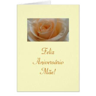 Portuguese: Feliz Aniversario Mae! Cards