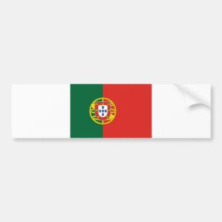 Portuguese flag bumper sticker car bumper sticker