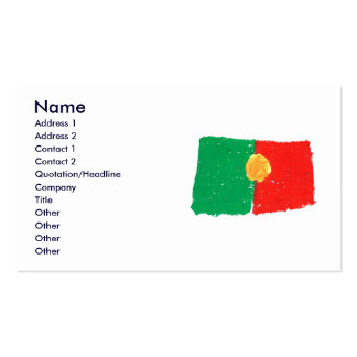 Portuguese Flag Double-Sided Standard Business Cards (Pack Of 100)