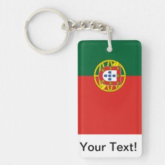 Portuguese Flag Double-Sided Rectangular Acrylic Keychain