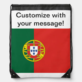 Portuguese Flag Drawstring Backpack