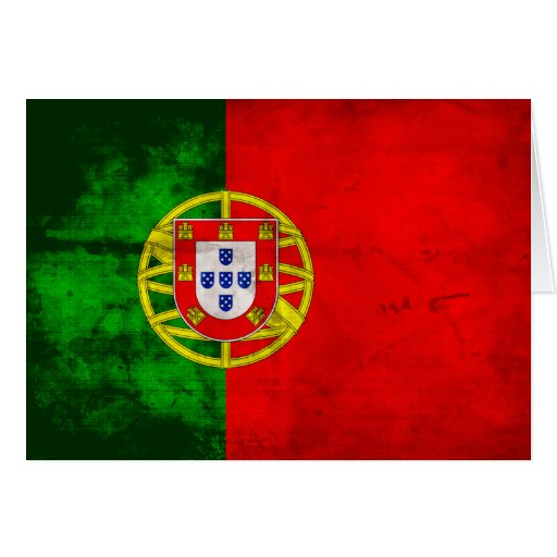 Portuguese Flag Greeting Cards