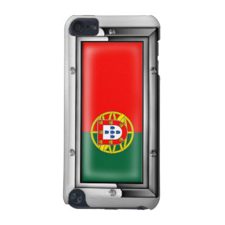 Portuguese Flag in a Steel Frame iPod Touch 5G Case